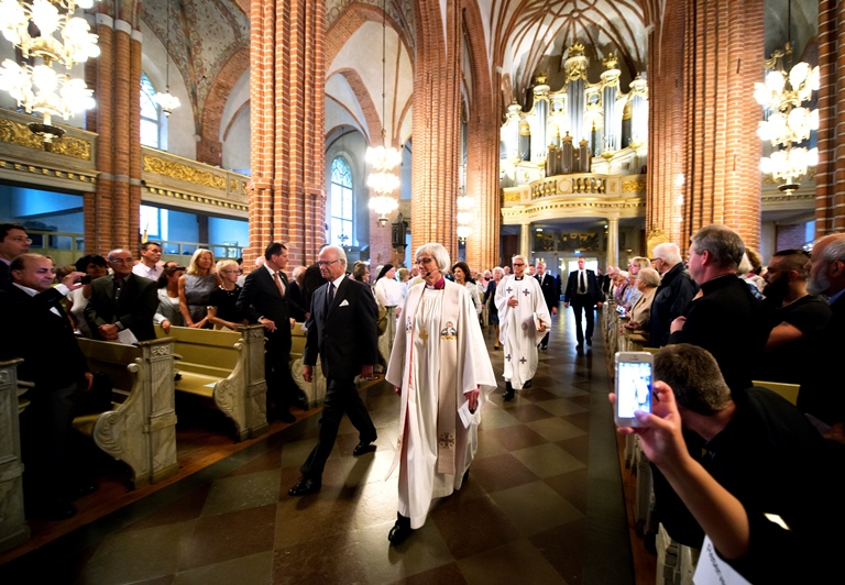 Förbönsgudstjänst för Syrien och Irak i Storkyrkan i Stockholm i september 2014. Foto: Magnus Aronson.