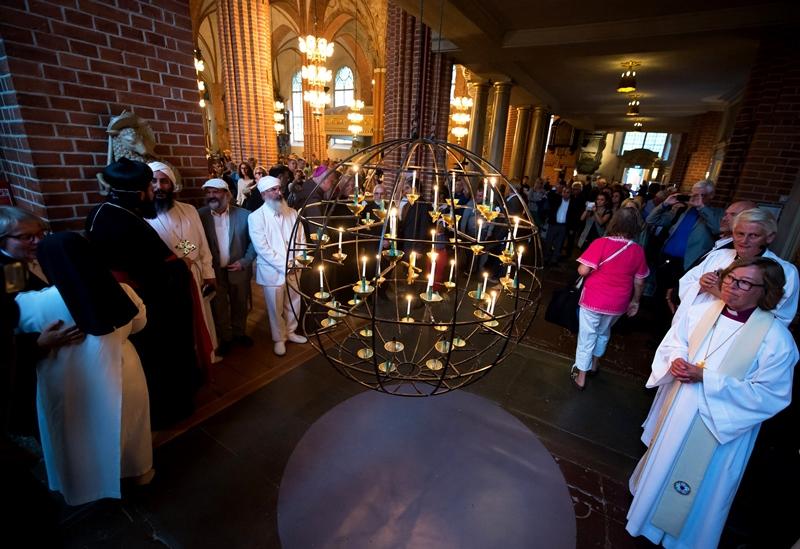 Ekumenisk gudstjänst i Storkyrkan i Stockholm 2014. Foto: Magnus Aronson