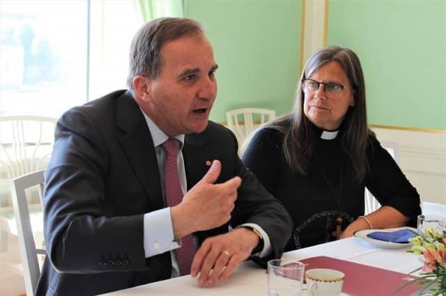 Demokrati och migration på agendan när kyrkoledare mötte Stefan Löfven