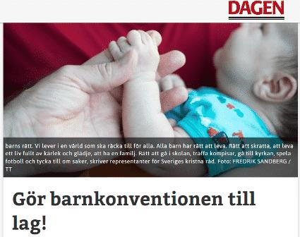 dagendebatt barnkonventionen