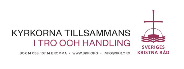 Grafisk profilmanual för Sveriges kristna råd (hösten 2018).