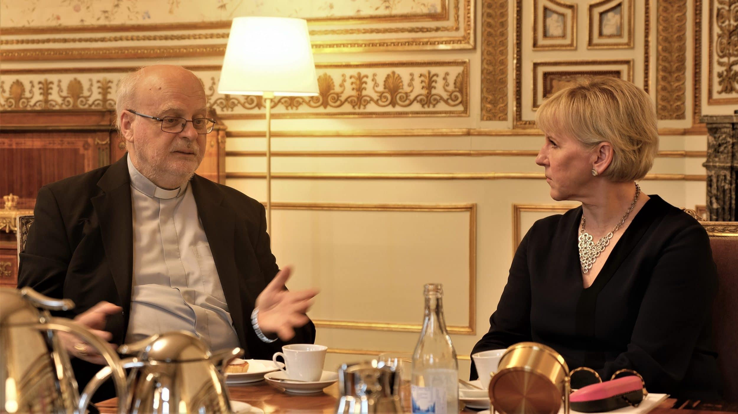 Religionsfriheten i fokus när kyrkorna mötte Margot Wallström
