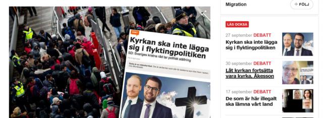 Kyrkoledare besvarar kritiken från Jimmie Åkesson