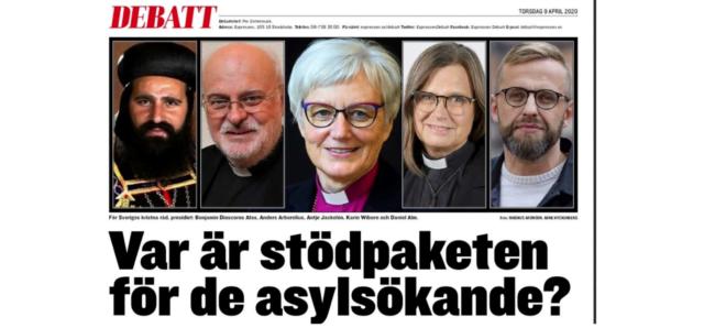 """Kyrkoledare i Expressen: """"Vilka åtgärdspaket presenteras för att stödja de mest utsatta?"""""""