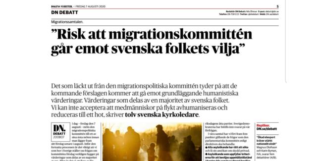 """SKR på DN Debatt: """"Speglar intentionen hos migrationspolitiska kommittén verkligen svenska folkets vilja?"""""""