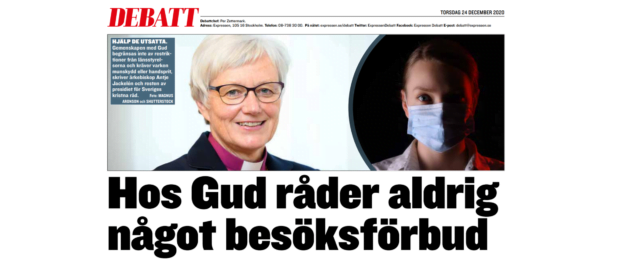 """Kyrkoledare i Expressen: """"kommer beslutsfattarna prioritera utsatta?"""""""