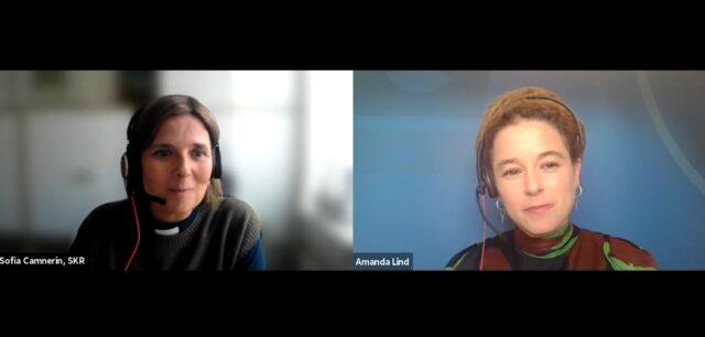 Se och lyssna till Amanda Linds och Sofia Camnerins samtal från Kyrkornas nätverksdag kring migration och integration