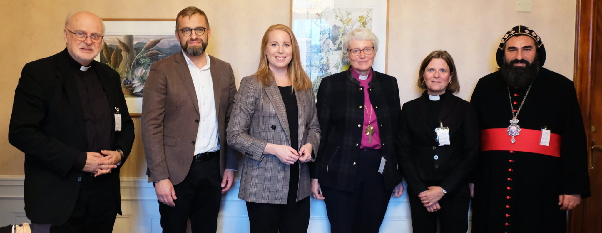 Sveriges kristna råds presidium och Annie Lööf Foto: Wilhelm Blixt
