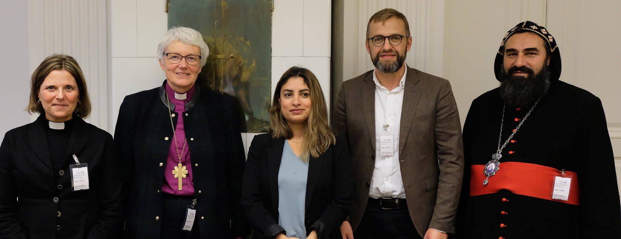Sveriges kristna råds presidium möter Nooshi Dadgostar